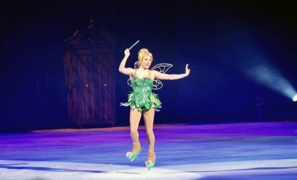 Natasha as Tinkerbell in Disney on Ice